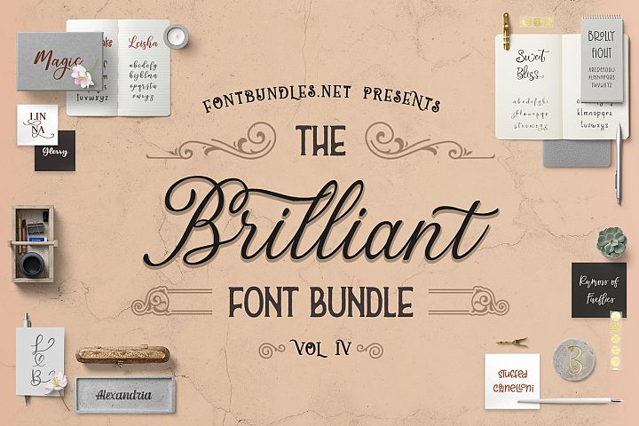 The Brilliant Font Bundle IV