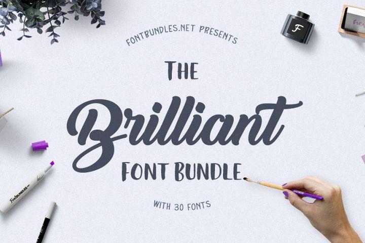 The Brilliant Font Bundle Free Download