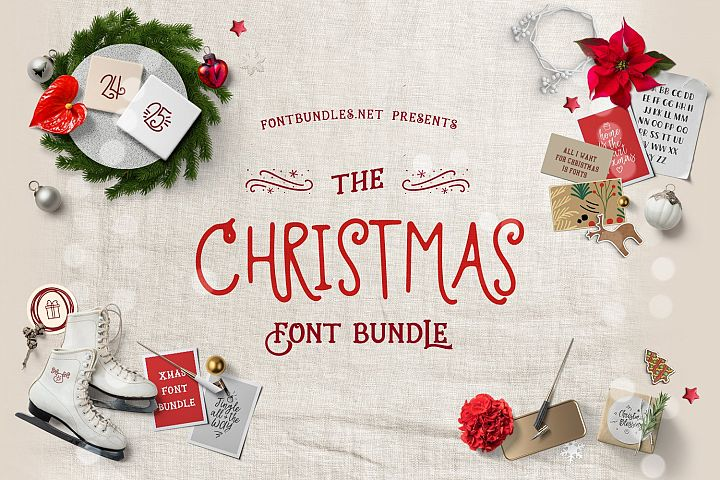 The Christmas Font Bundle