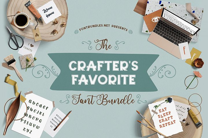 The Crafters Favorite Font Bundle