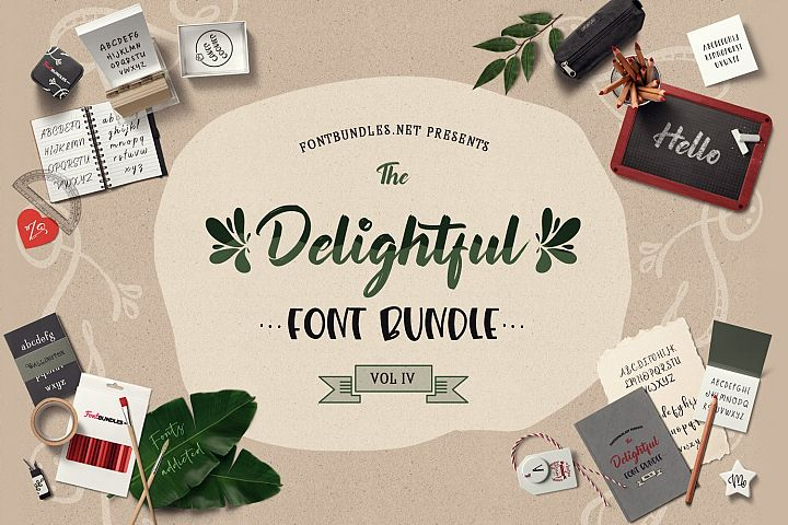 The Delightful Font Bundle IV Cover