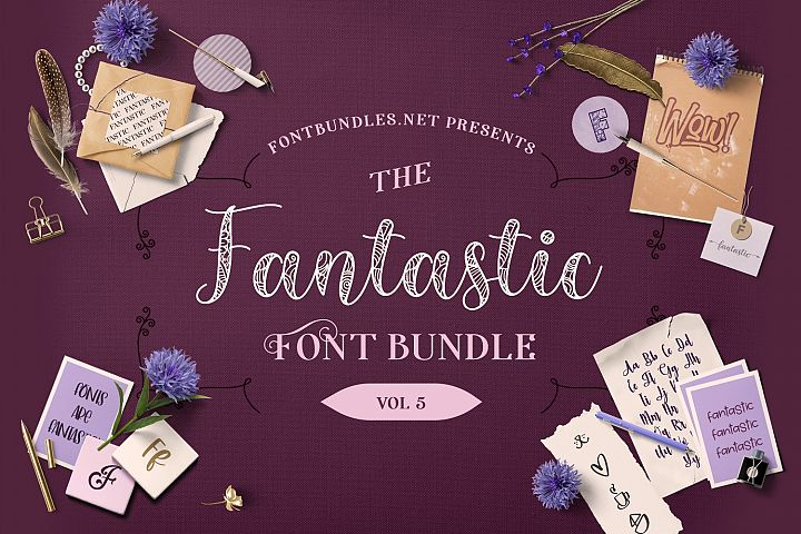 The Fantastic Font Bundle Volume 5