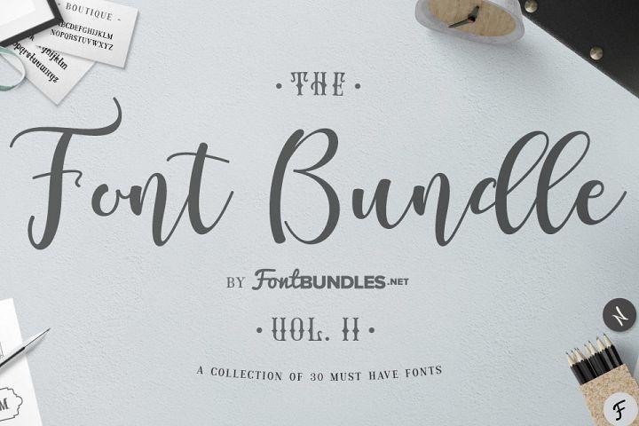 The Font Bundle Volume II Free Download