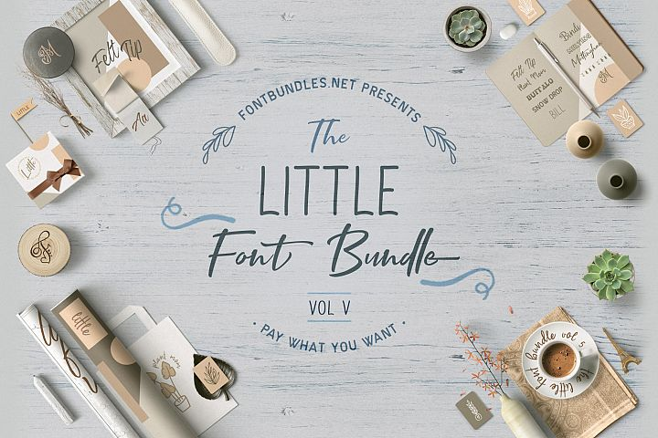 The Little Font Bundle Vol V