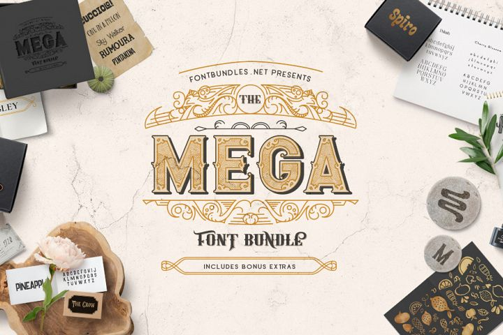 The Mega Font Bundle