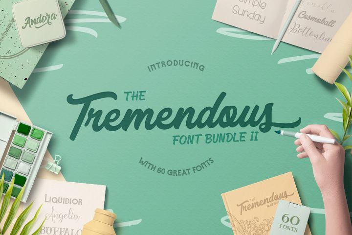The Tremendous Font Bundle Volume II Free Download