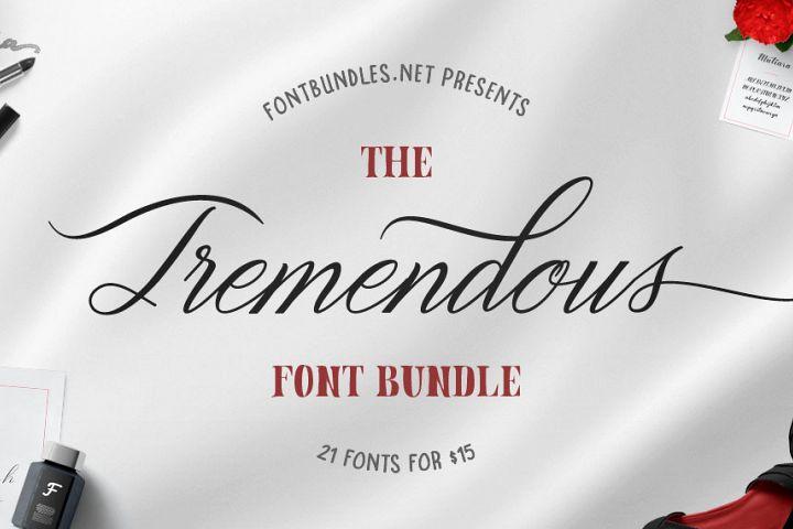 The Tremendous Font Bundle Free Download