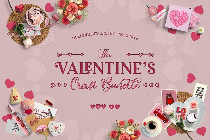 The Valentines Craft Bundle II Cover
