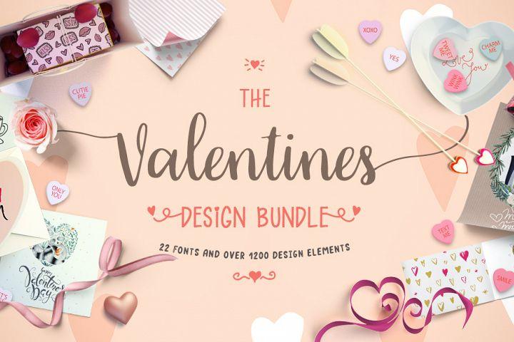 Valentines Design Bundle Design Bundles