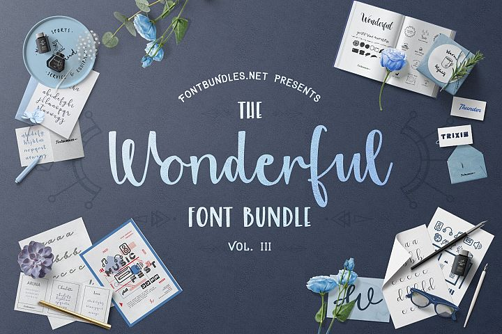 The Wonderful Font Bundle III Cover