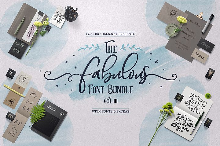 The Fabulous Font Bundle Volume III