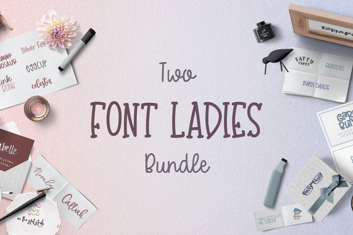 The Two Font Ladies Bundle Free Download