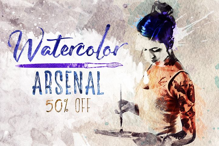 Watercolor Arsenal (50% off)