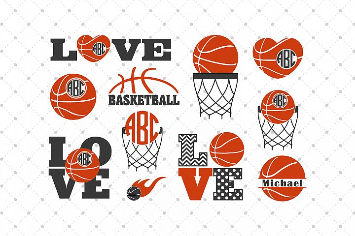 Basketball SVG Cut Files