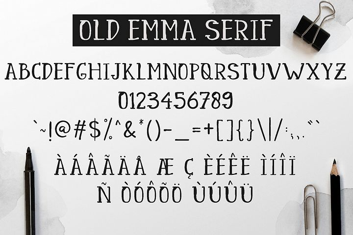 Old Emma - Free Font of The Week Design5