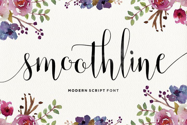 Commercial greeting cards fonts font bundles smoothline script m4hsunfo