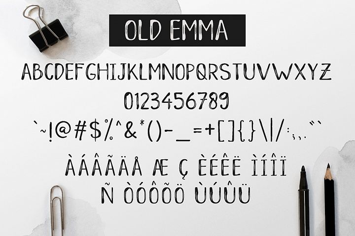 Old Emma - Free Font of The Week Design3
