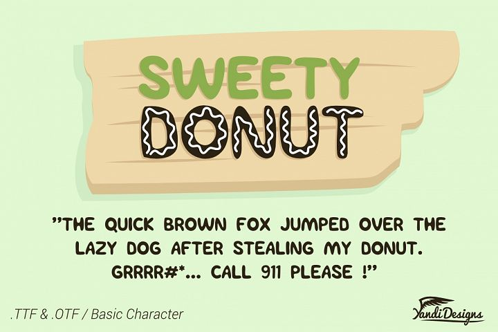 Sweety Donut - Fun Typo