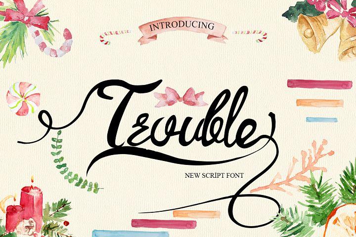 Trouble Script Font
