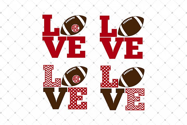 Football Love SVG Cut Files
