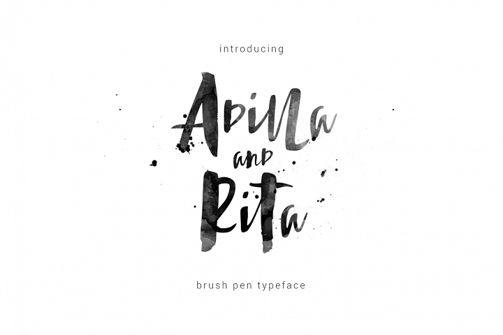 Adilla and Rita Typeface
