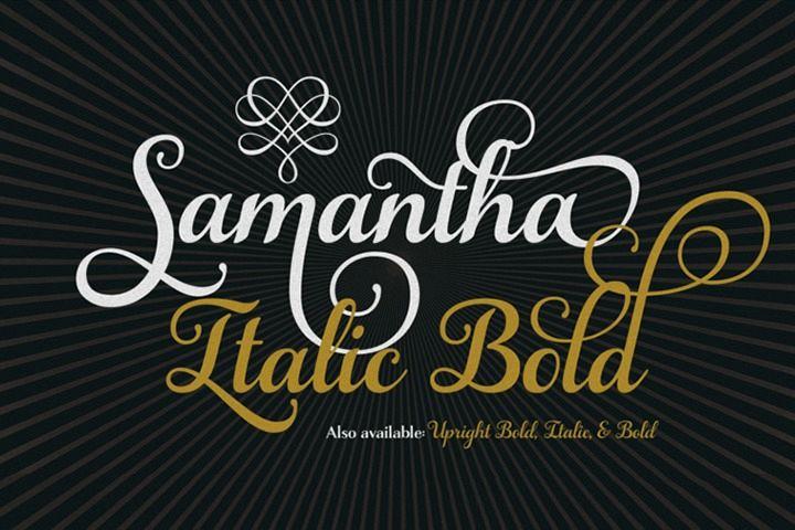 Samantha Script Italic Bold