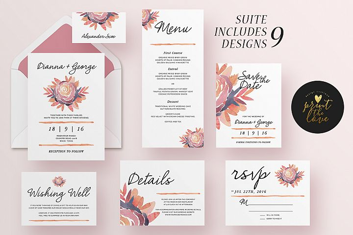 Wedding Invitation Suite - Alli