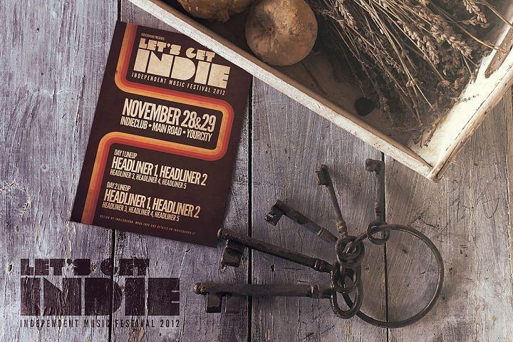 Vintage Black Keys | Poster Mockup
