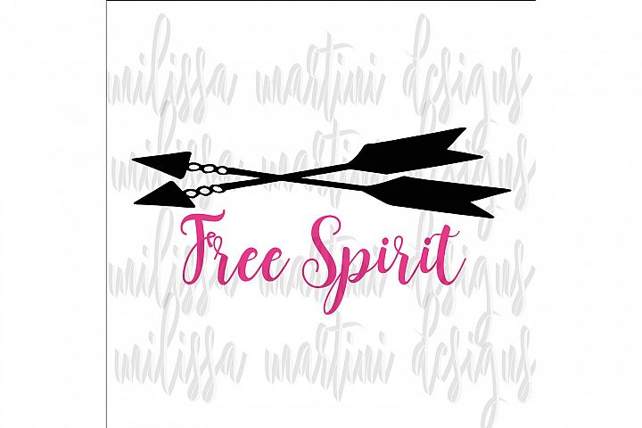 Free Spirit SVG Cut File example 2