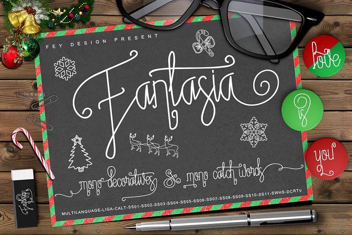 Fantasia Monoline Calligraphy And Bonus