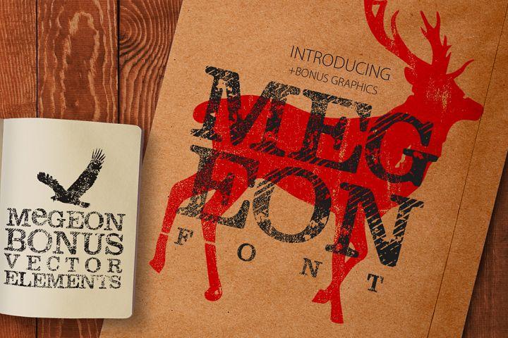 Megeon Font + Vector Bonus