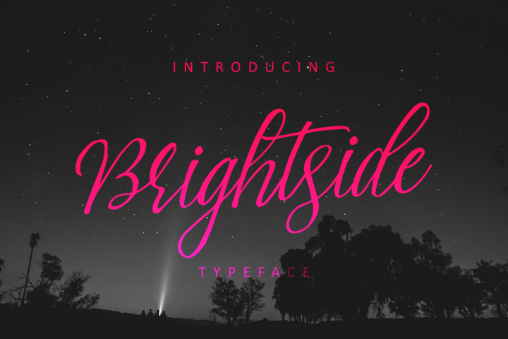 Download Brightside Typeface - Free Font of The Week | Font Bundles