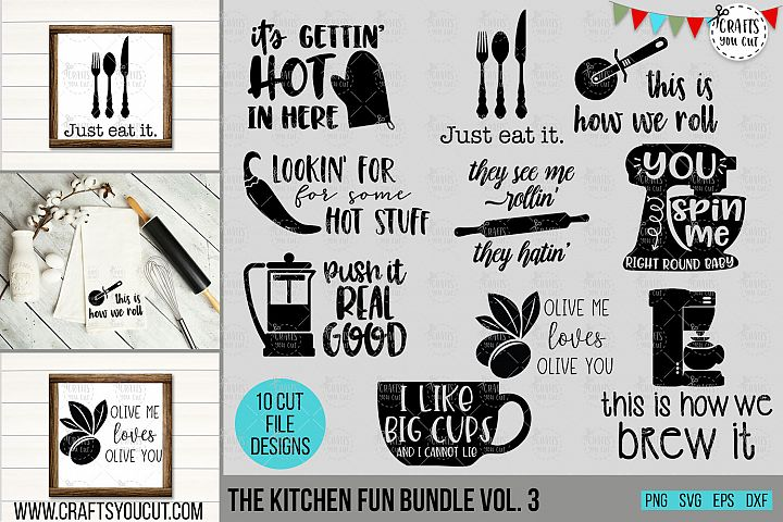 Funny Kitchen Bundle Vol. 3- An SVG Cut File Bundle