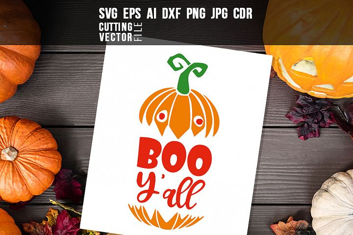 Boo Yall - svg, eps, ai, cdr, dxf, png, jpg