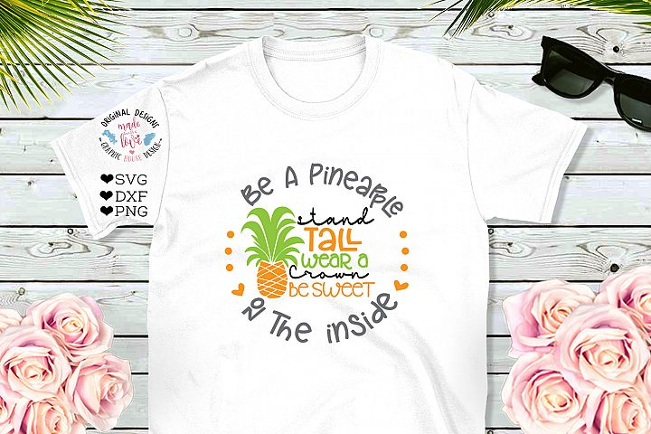 Be a pineapple Girls Summer T-shirt Design