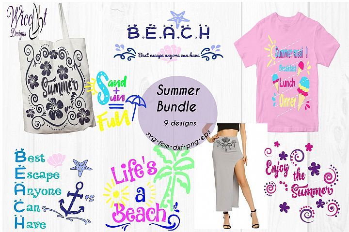 Beach Bundle, Holiday svg, beach quote svg, word art svg, Quote bundle svg