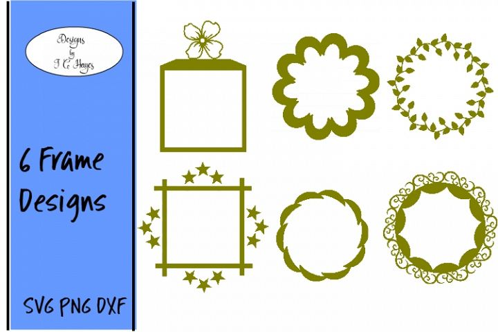 Digital Frames, SVG, PNG, DXF