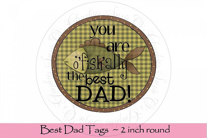 Best Dad Tags, round