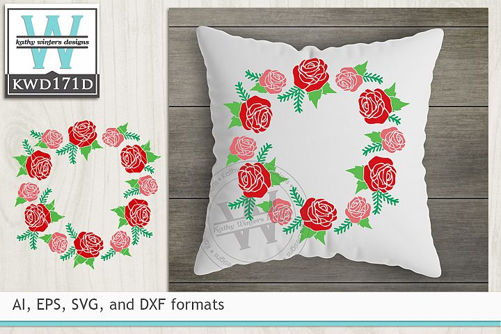 Valentines SVG - Floral Wreath