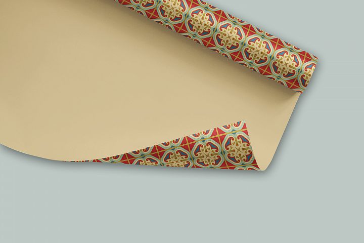 38 Arabesque Papers JPG & 20 Seamless Tiles PS Patterns PAT example 6