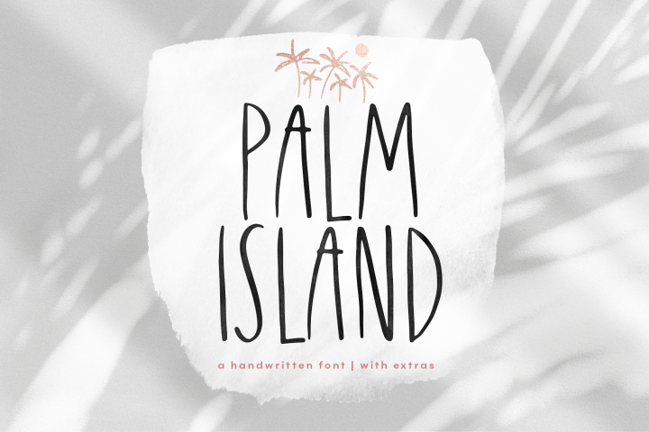 Palm Island - Handwritten Font with Extras