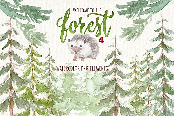 watercolor Welcome to the forest. Volume 1
