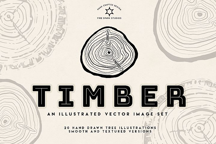 Timber - Vector Illustration Image Set