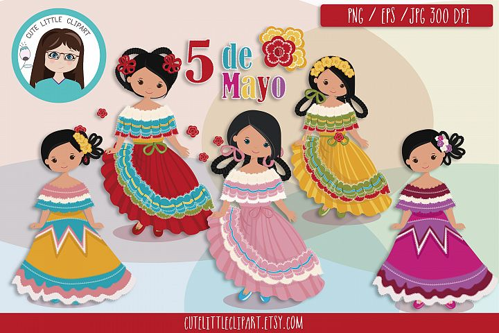 Cinco de Mayo Girls clipart