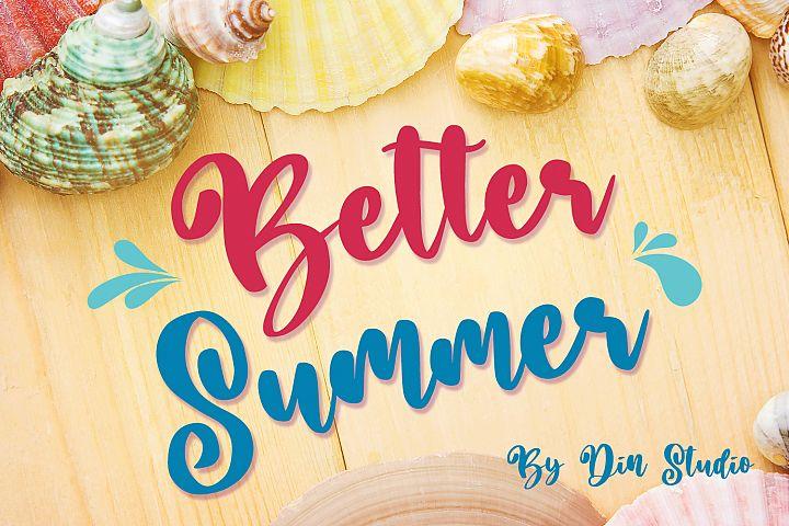 Better Summer Script