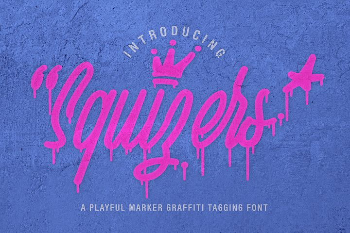 Squizers Graffiti Tagging Font