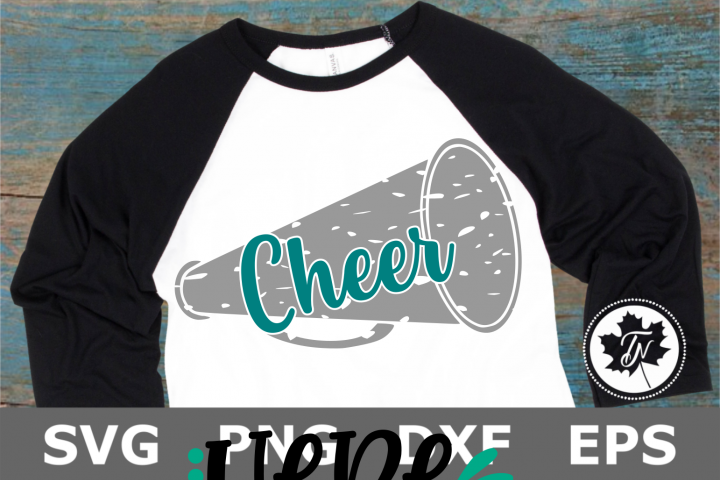 Cheer Distressed - A Sports SVG Cut File