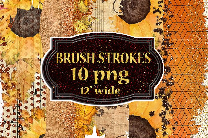 Autumn Brush Strokes,Fall Color Palette,Thanksgiving clipart