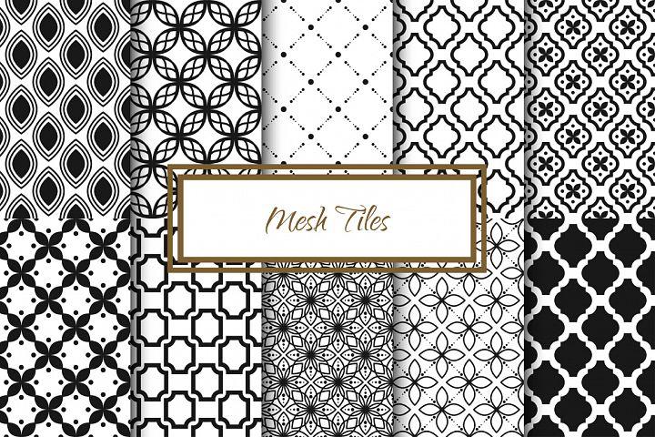 Mesh Tile Vector Patterns