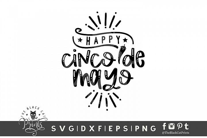 Happy Cinco De Mayo SVG DXF EPS PNG | Mexican Fiesta svg